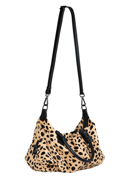 d156bc877d1c ... MOFE Leather Handbag Urbane Top Handle Satchel Crossbody Bag With Strap  Cheetah Leopard Animal Print ...