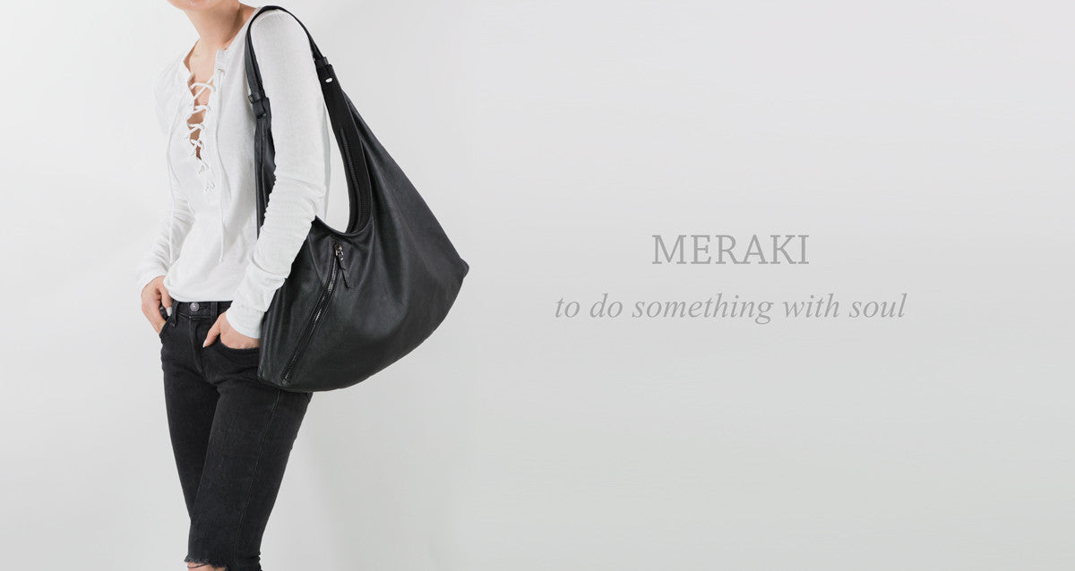 Meraki leather shoulder bag MOFE