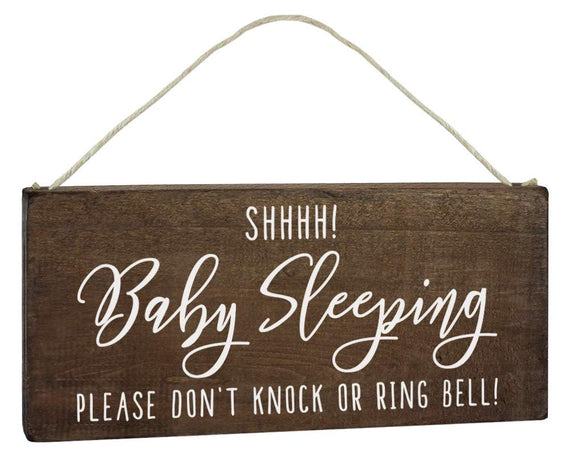 Baby Sleeping Sign - Do Not Knock or Ring Doorbell