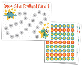 Elegant Signs Toddler Reward Chart for One or Multiple Kids with Stickers for Good Behavior or Chore - 8.5 x 11 (Pack of 10 Charts with 252 Star Stick
