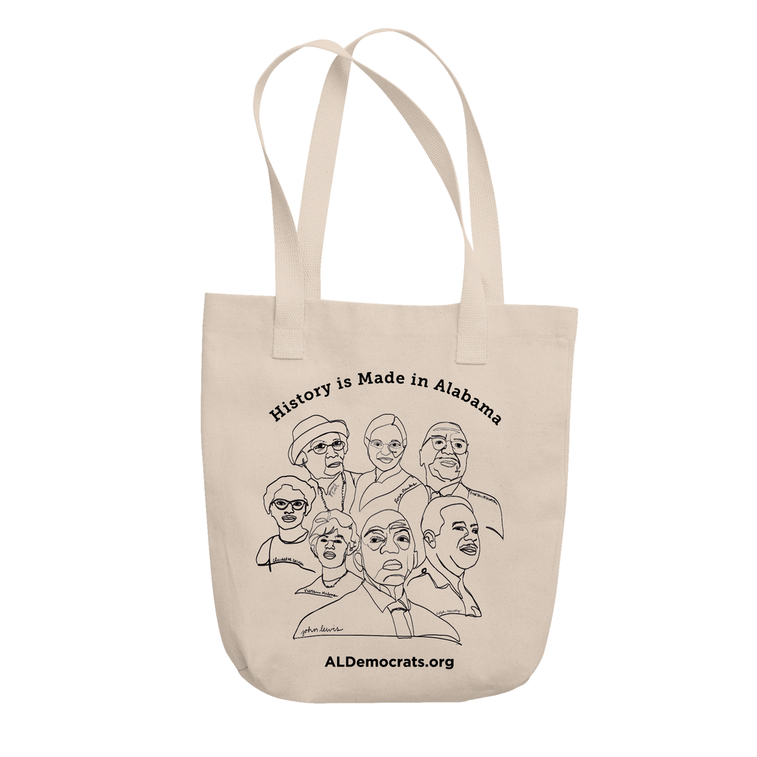 History Is Made In Alabama Tote
