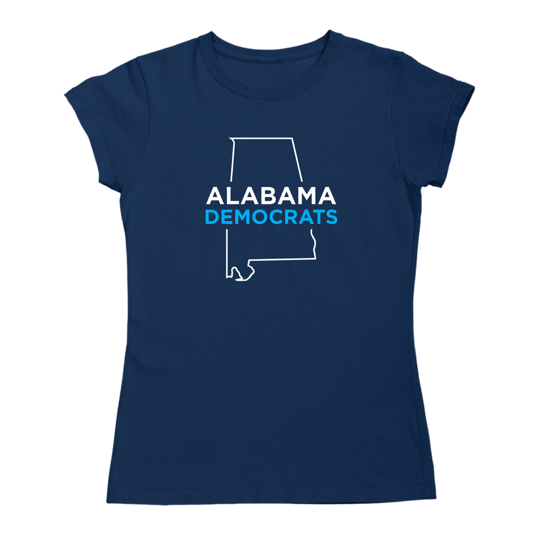 AL Democrats Logo Fitted T-Shirt - Navy or White