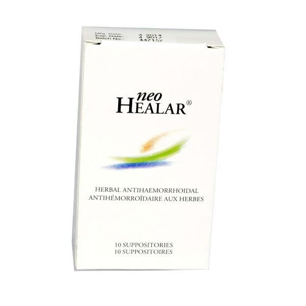 10 X Neo Healar Natural Suppositories relief anal fissures hemorrhoids pain 10'S