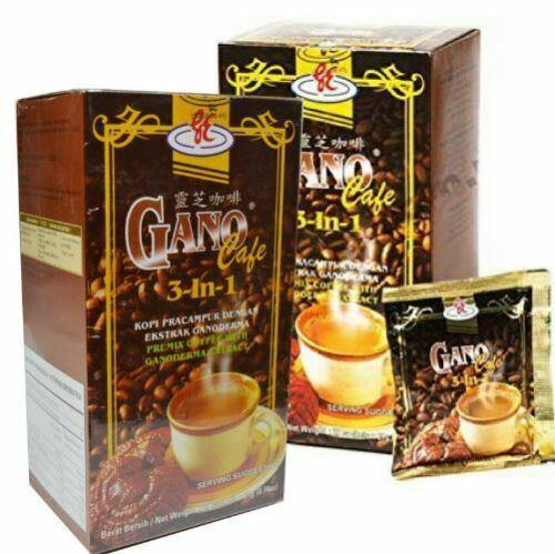 2 Box Gano Cafe 3 in 1 Coffee Gano Excel Gonoderma Extract