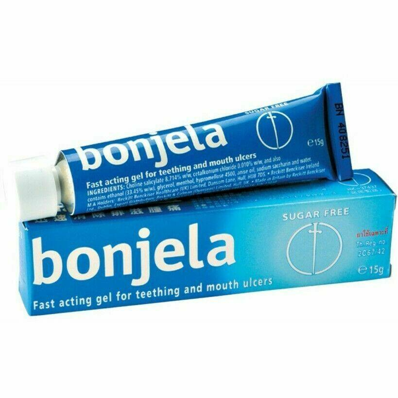 Bonjela Gel Fast Acting Gel for Teething and Mouth Ulcers 15g