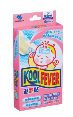 Kool Fever Cooling Gel Sheets Babies 2 Sheets x 6