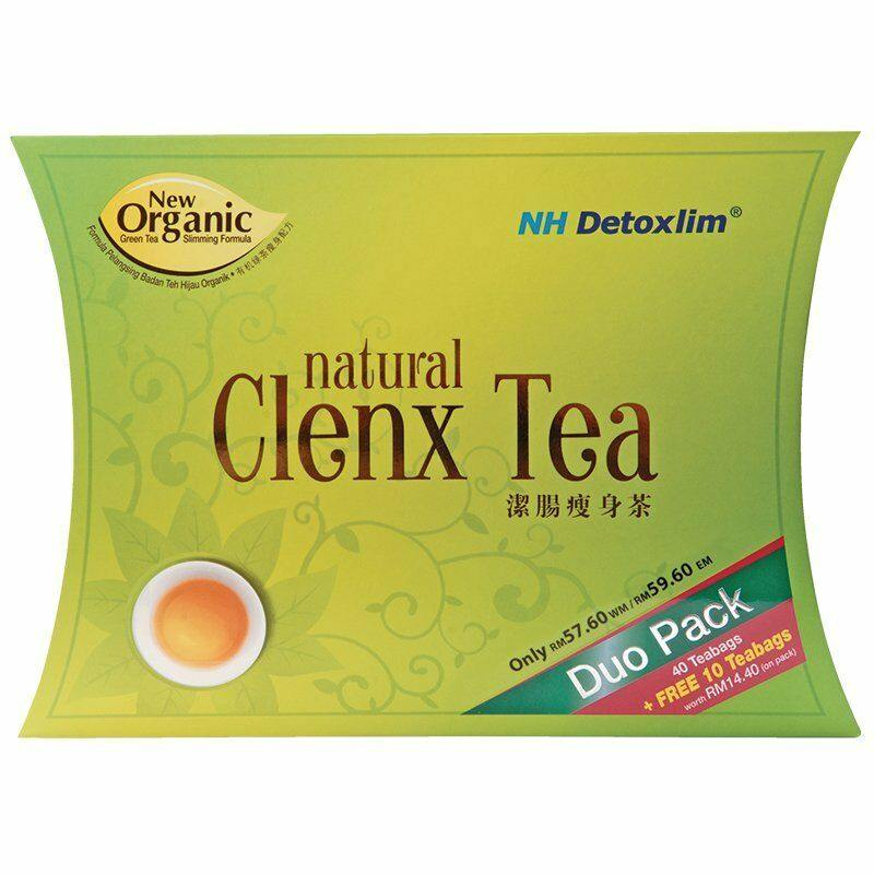 Nh Detoxlim Clenx Tea for Natural Weight Loss & Detox 55 Sachets
