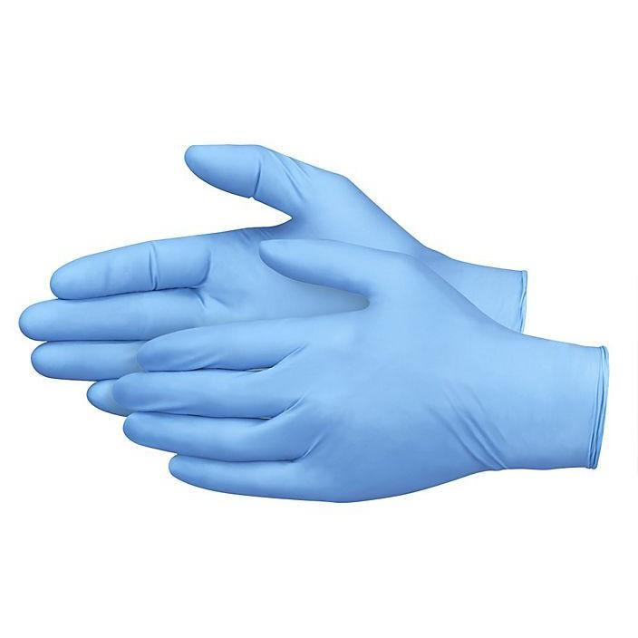 New Nitrile Rubber Gloves Powder/Latex Free Blue Gloves PPE M L XL