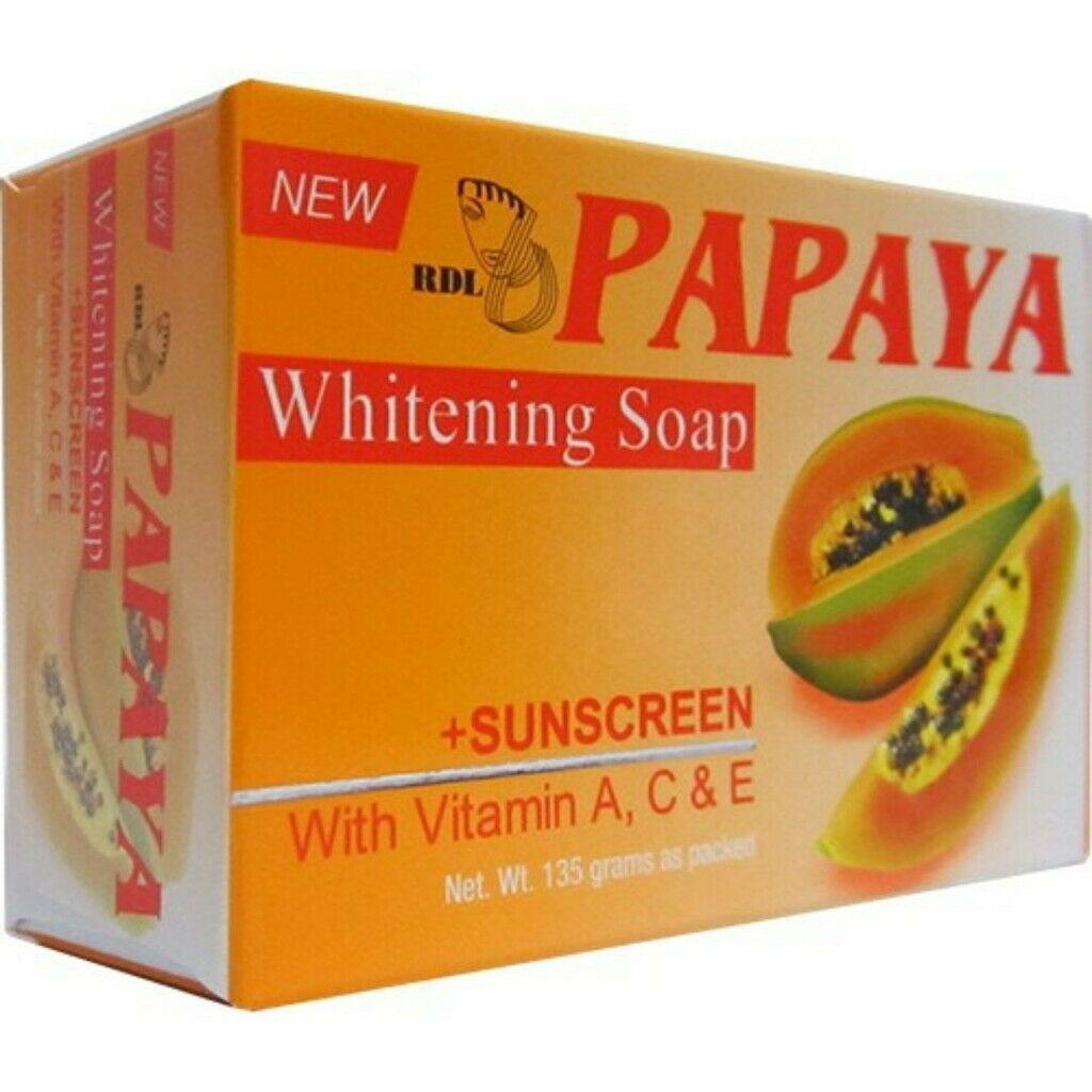 Papaya Whitening Soap With Sunscreen Vitamin A C & E For Skin