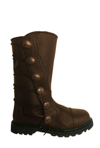 Brown Leather Mid-Calf Leather Renaissance Boots 9911-BR , Boots - House of Andar, House of Andar  - 1