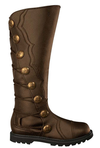 Men's Brown Leather Knee High Renaissance Boots 9912-BR , Boots - House of Andar, House of Andar  - 1