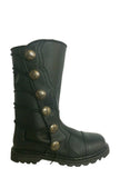 Black Leather Mid-Calf Renaissance Boots 9911-BK