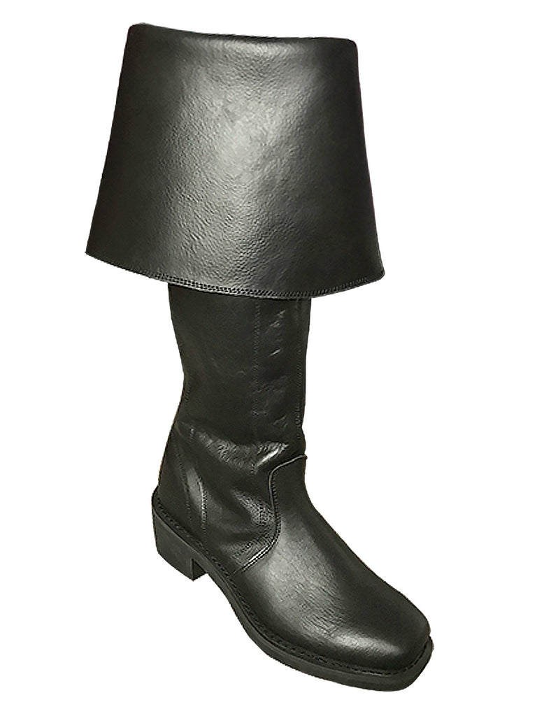 new style of 2019 later elegant and sturdy package Black Knee-High Leather Pirate Boots 9950-BK