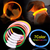 LED Dog Collar USB Charging Flashing Night Cat Collars Luminous Anti-Lost Avoid Car Accident Safety Pets Harnesses Leads - Rite Gadgets