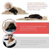 Plush dog beds for large dog in dog Winter cat Bed Mat Soft Pet long plush Dog Kennel pet blanket dog house bed - Rite Gadgets