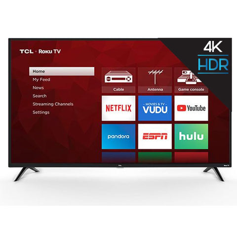 "TCL 65"" Class 4K UHD LED Roku Smart TV HDR 4 Series 65S421 - - Rite Gadgets"