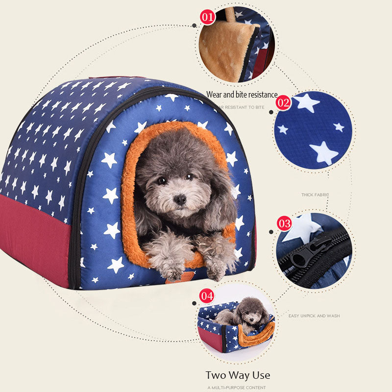 Print Stars Kennel Mat For Pet Puppy Top Quality Foldable - Rite Gadgets