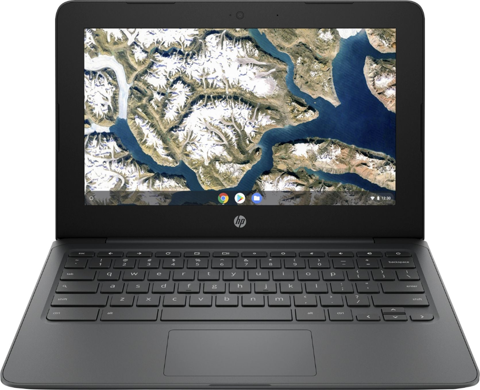"HP - 11.6"" Chromebook - Intel Celeron - 4GB Memory - 32GB eMMC Flash Memory - Ash Gray - Rite Gadgets"