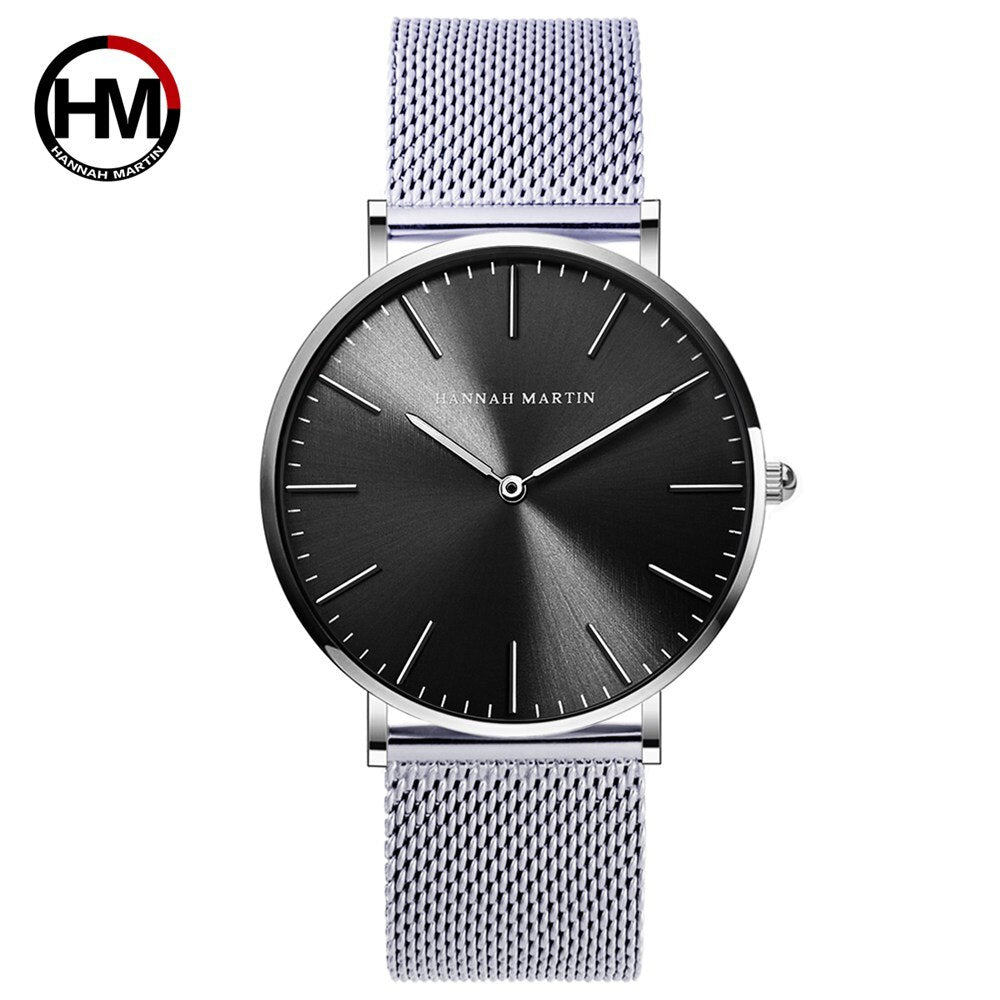 Luxury Men Simple Quartz Watch Stainless Steel Mesh Band - Rite Gadgets