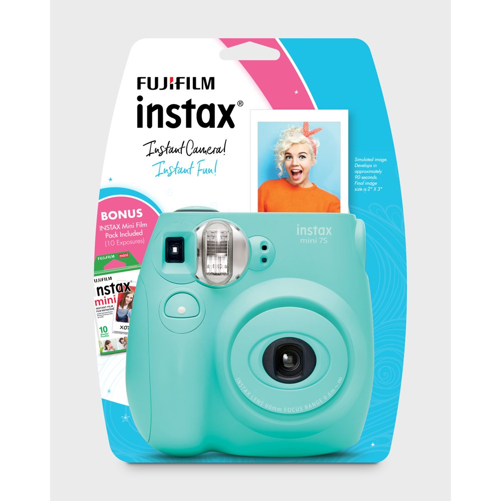 Fujifilm Instax Mini 7S Instant Camera (with 10-pack film) - Seafoam Green - Rite Gadgets
