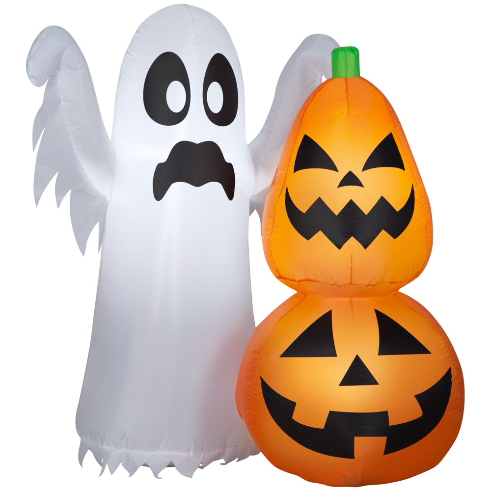 Airblown Inflatable Ghost Pumpkin by Gemmy Industries - - Rite Gadgets