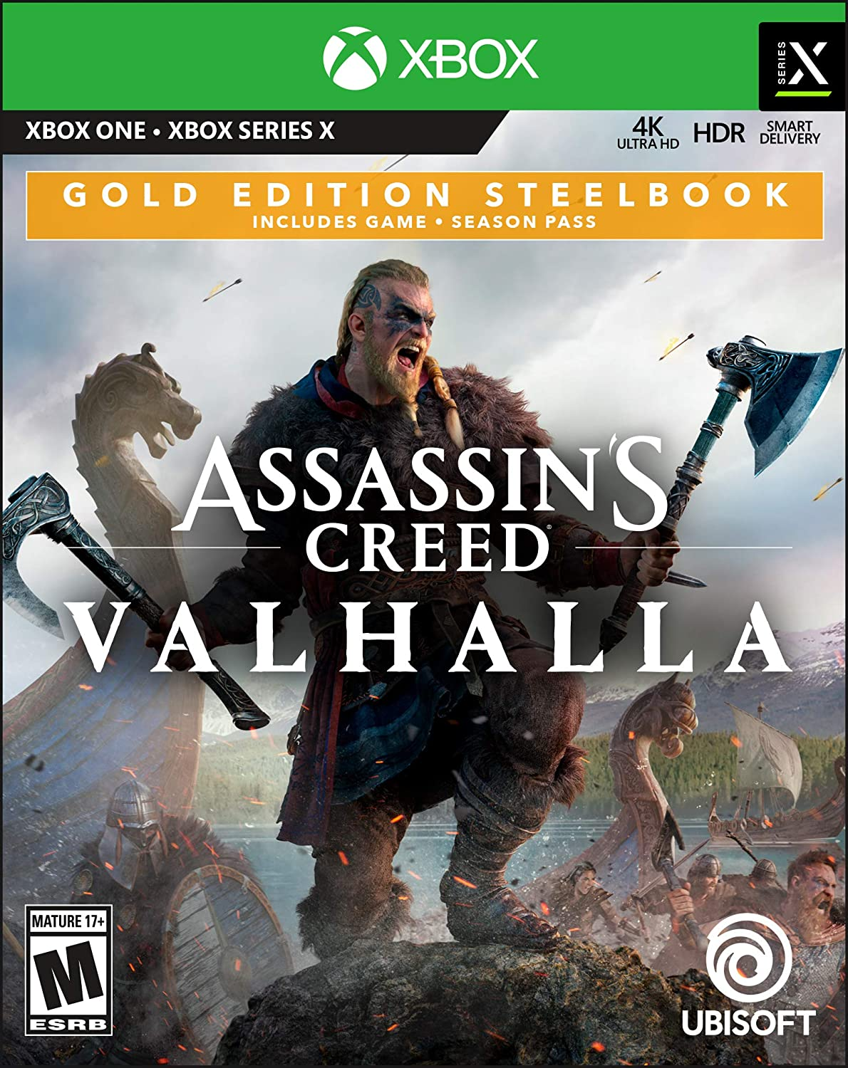 Assassin's Creed Valhalla Gold Steelbook Edition - Xbox One - Rite Gadgets