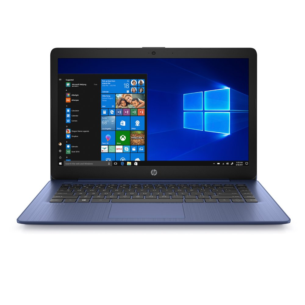 "HP Stream 14"" Celeron 4GB/64GB Laptop-Blue - Rite Gadgets"