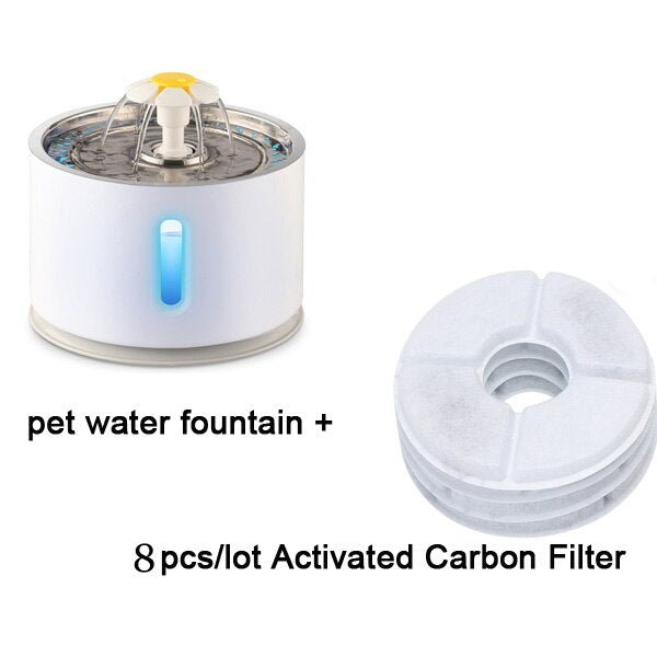 Automatic Cat Water Fountain Water level Window LED - Rite Gadgets