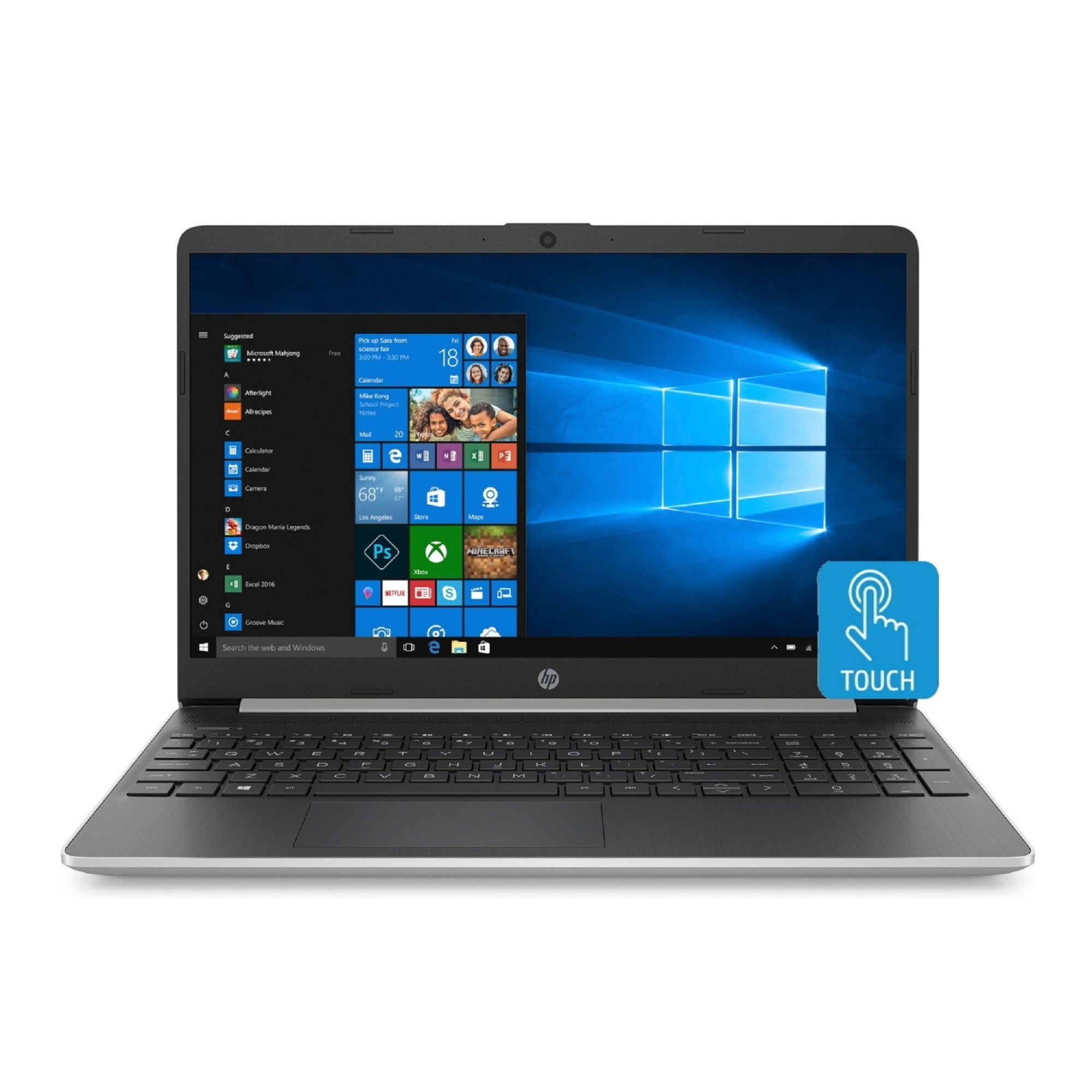 HP 15-DY 10th Gen Intel i3 8GB 256GB 15.6 Touch WLED Laptop (Renewed) - Rite Gadgets