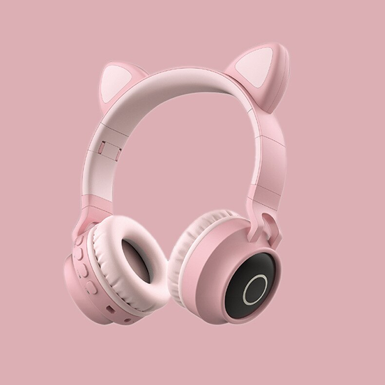 Cat Ear Bluetooth 5.0 Headphone Earphone Cordless Headphones Girls Cute Gaming Headset Wireless Earpiece Headphones - Rite Gadgets