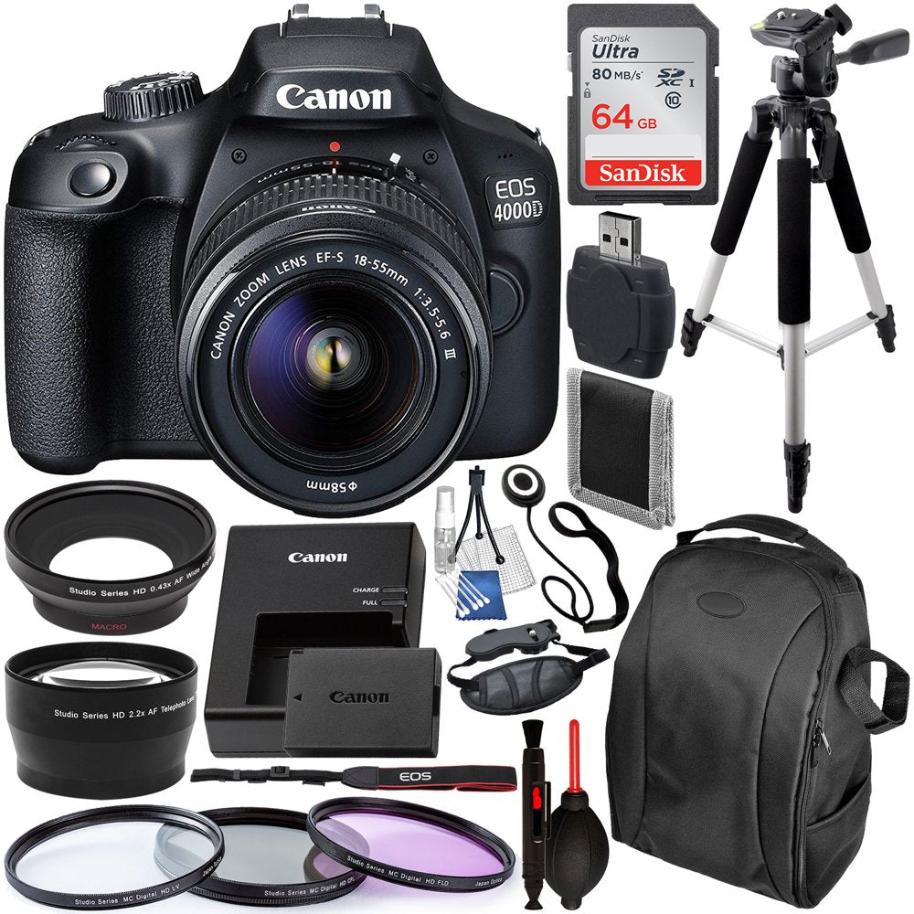 Canon EOS 4000D / Rebel T100 DSLR Camera with 18-55mm III - Rite Gadgets