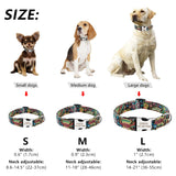 Custom Dog Collar Personalized Nylon Pet Dog Tag Collar Adjustable Engraved Puppy Cat Nameplate ID Collars For Small Large Dogs - Rite Gadgets