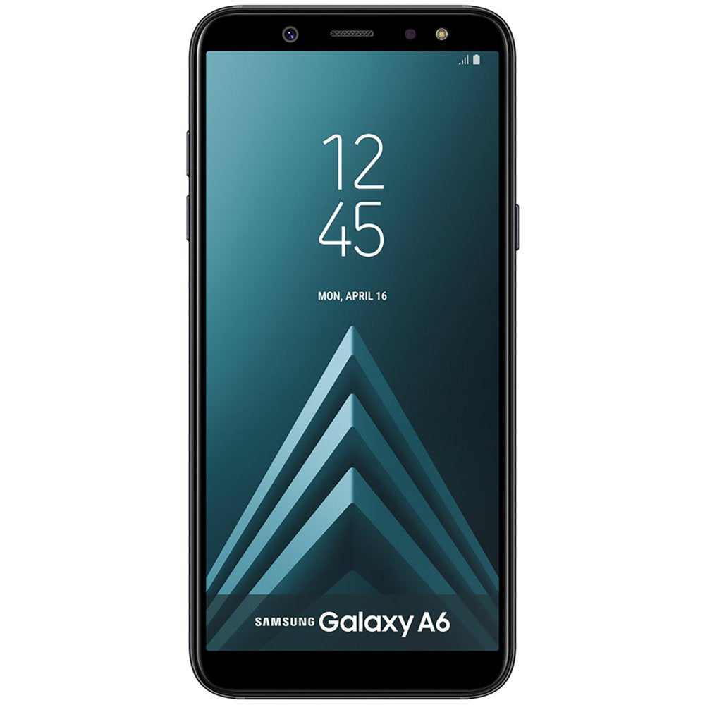 Samsung Galaxy A6 (2018)  32GB Sprint Phone w/ 16MP Rear|Front Camera - Black (Refurbished) - Rite Gadgets
