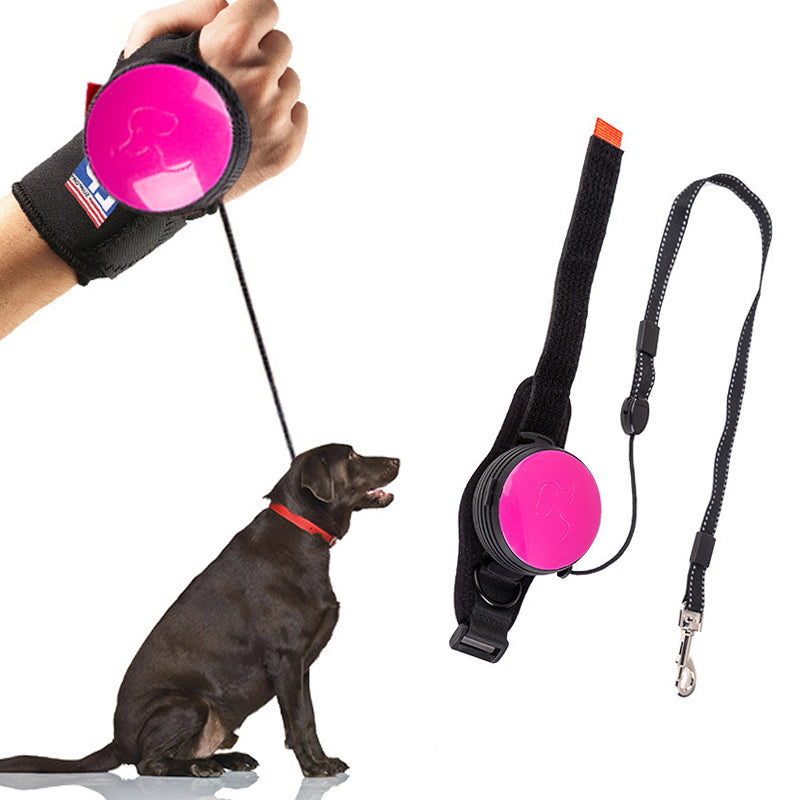 Handsfree Wrist Retractable Dog Leash Pet Traction Rope Adjustable 3M Terrier Leash Belt Wrist Strap Running Jogging Dog Product - Rite Gadgets