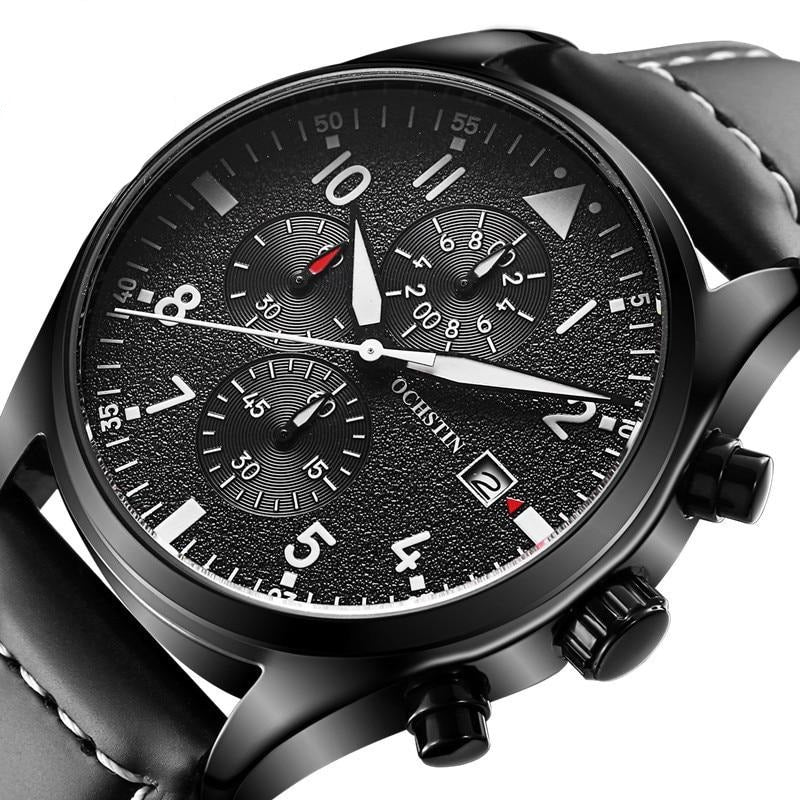Mens Business Watches Top Brand Luxury Waterproof Chronograph Watch - Rite Gadgets