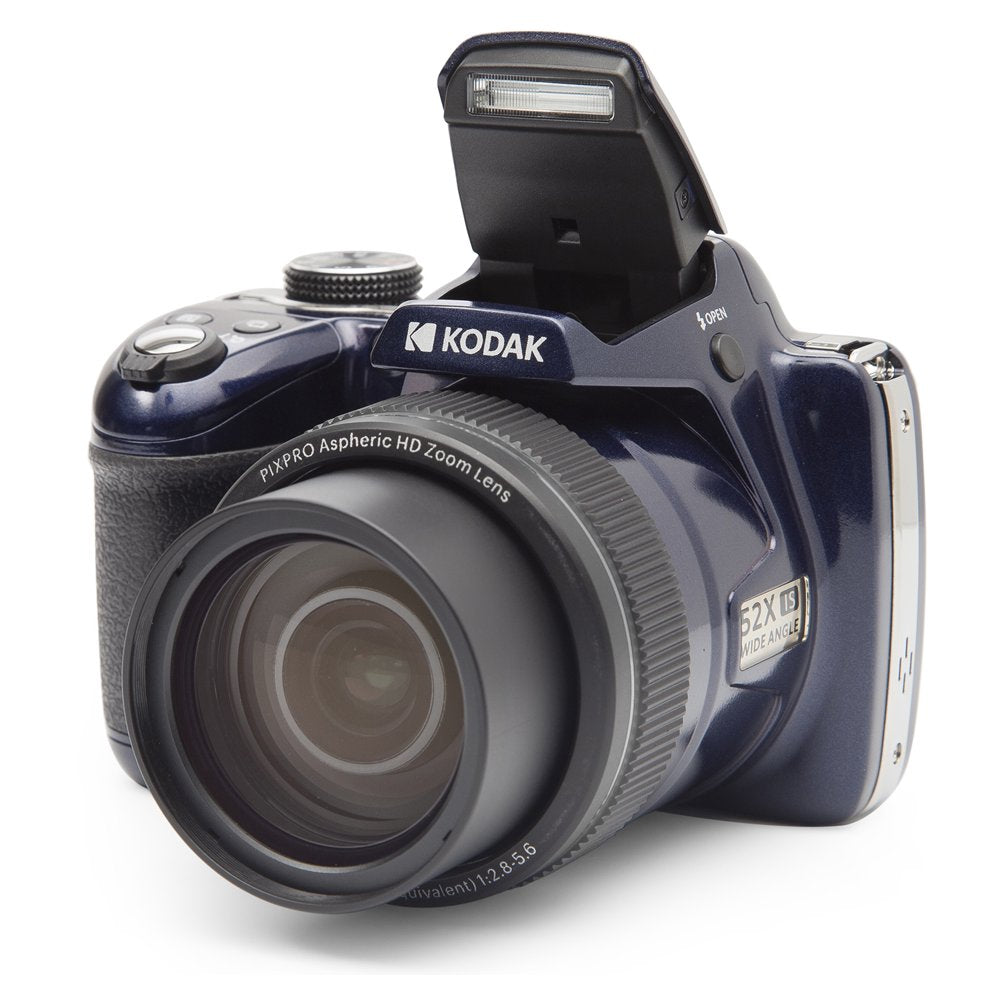 KODAK PIXPRO AZ528 Astro Zoom BSI-CMOS Bridge Digital Camera - 16MP 52X 1080p Wi-Fi (Midnight Blue) - Rite Gadgets
