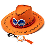Anime One Piece D Ace Luffy Cosplay Cowboy hats - Rite Gadgets