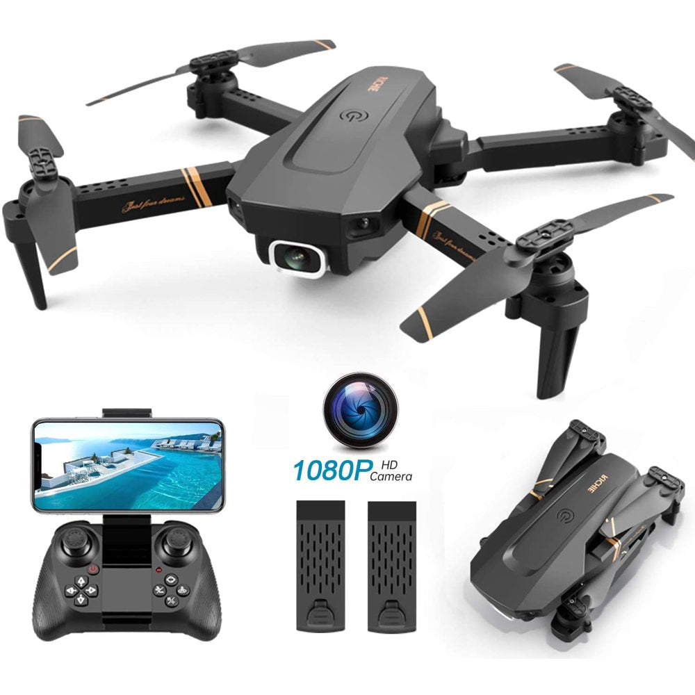 Quadcopter with Wide Angle FPV Live Video, Trajectory Flight, App Control - Rite Gadgets