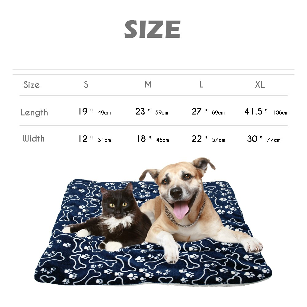 Winter Dog Bed Blanket Soft Fleece Pet Sleeping Bed Cover Mats Warm Sofa Cushion Mattress For Small Large Dogs Cats Cama Perro - Rite Gadgets