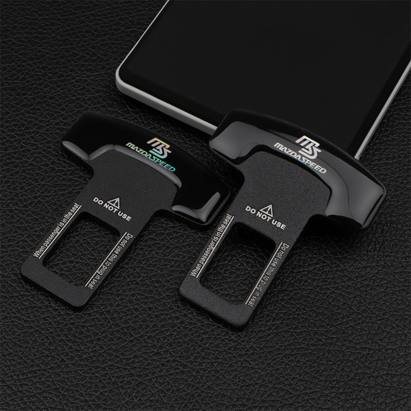 1/2pcs quality zinc alloy MS car seat belt clip safety belt plug for Mazda 2 3 5 6 MS CX-4 CX-5 CX-3 CX-9 MX3 MX5 Car Accessorie