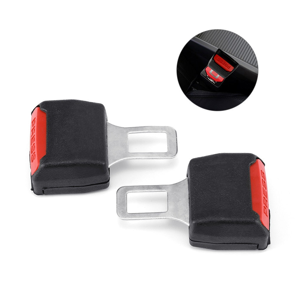 2 Pieces Seat Belt Plug Buckle Universal Car Seat Belt Clip Safety Seatbelt Lock Thick Insert Socket For Car Styling Accessories
