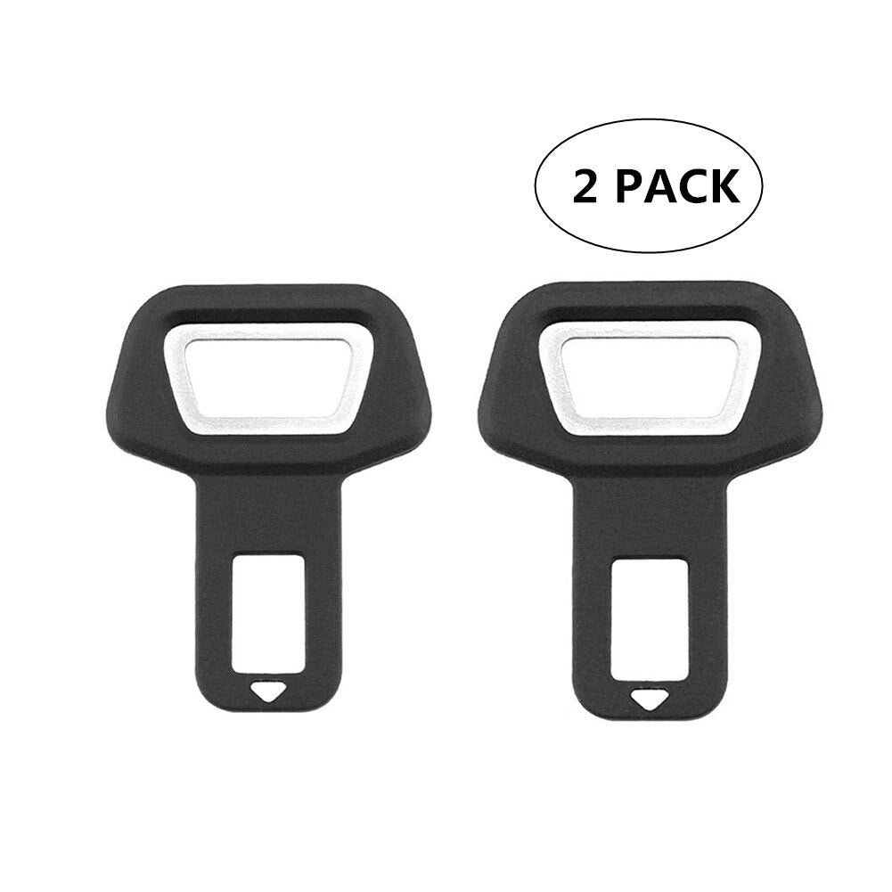 2PCS Car Seat Belt Clip Seat Belts Stopper Buckle Car Safety Belt Clip Clamp Car-styling Universal Suitable for 0-53mm Dropship (Black)