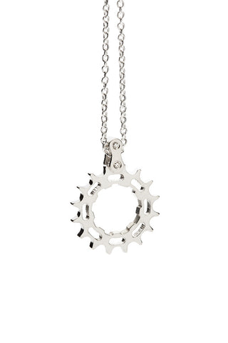 Bike Cog Pendant Sterling Silver