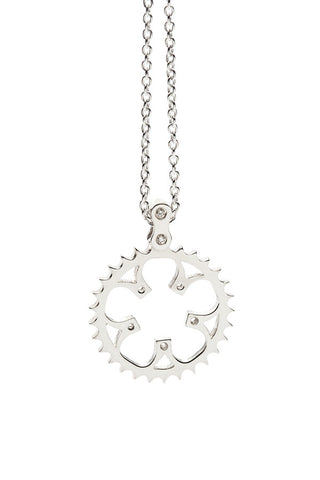 Bike Chainring Pendant Sterling Silver