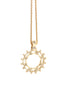 Bike Cog pendant 18K yellow gold