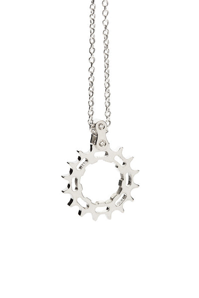 Bike Cog Pendant 18K white gold