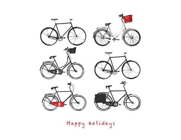 Holiday Bikes Note Cards