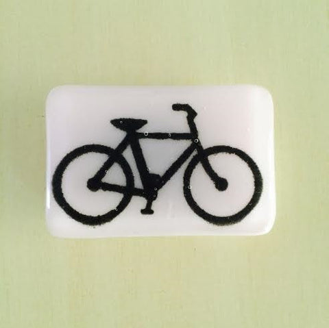Glass Bicycle Belt Buckle in Baby Pink