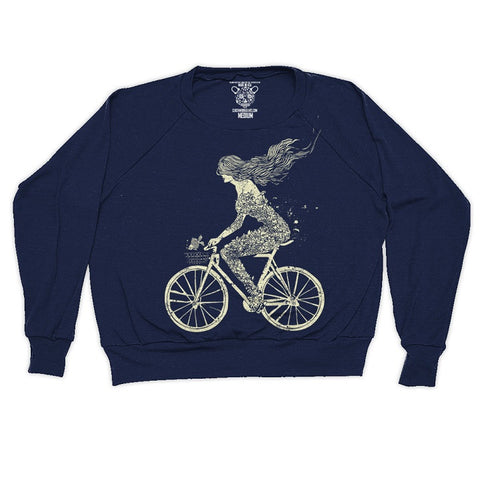 Clockwork Gears Mermaid Bike Sweatshirt