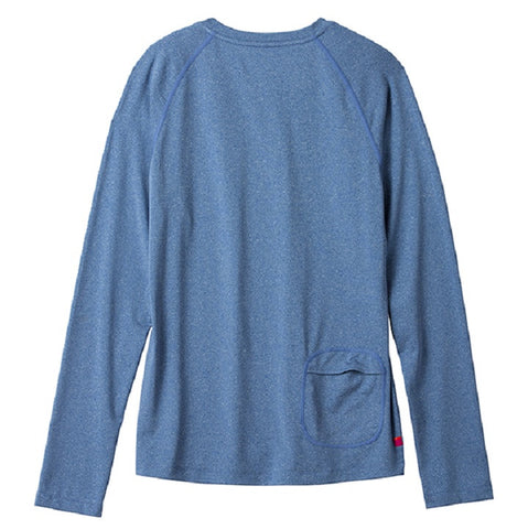 Terry Tech Tee L/S Blue